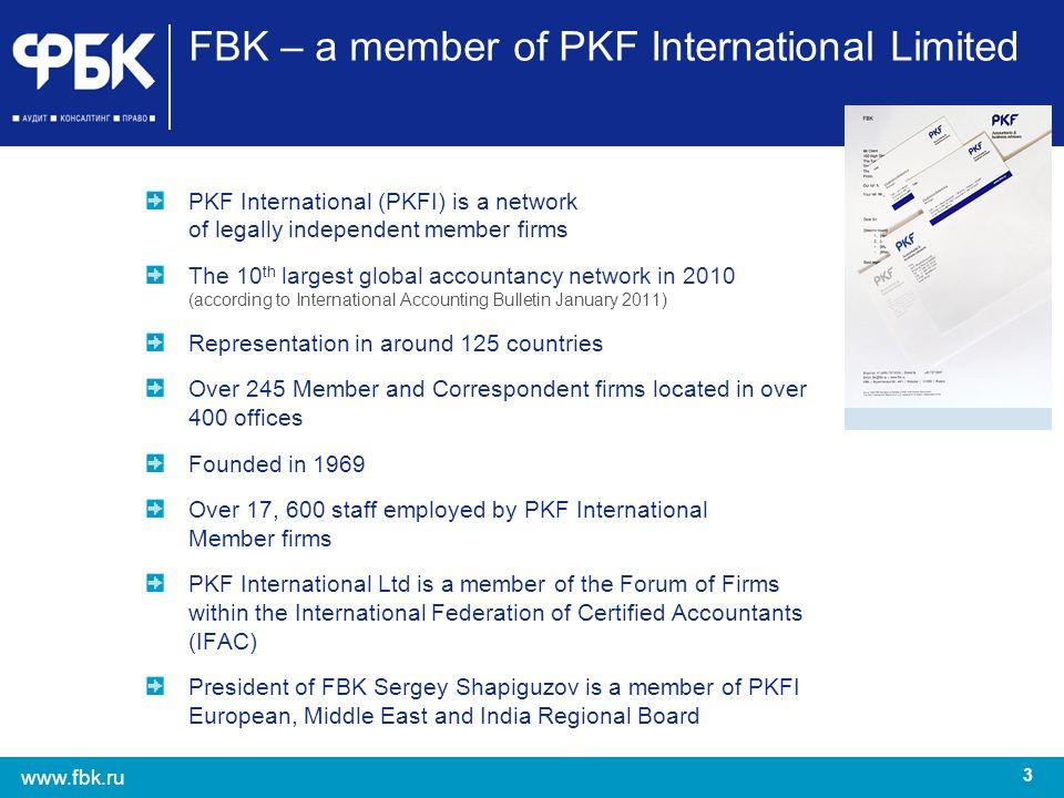 FBK – a member of PKF International Limited