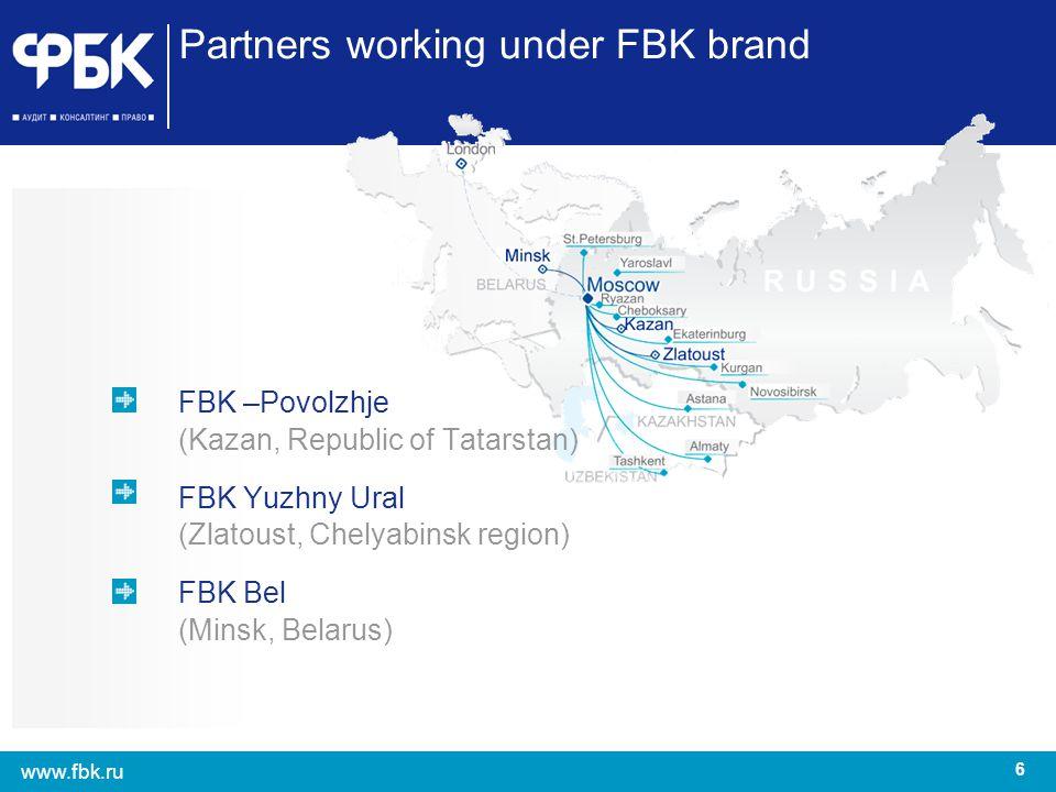 Partners working under FBK brand