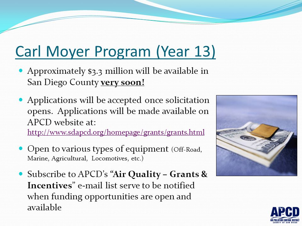 Carl Moyer Program (Year 13)