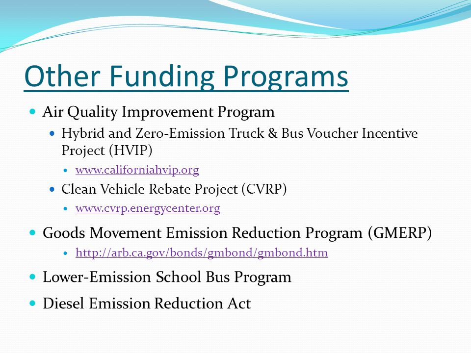 Other Funding Programs