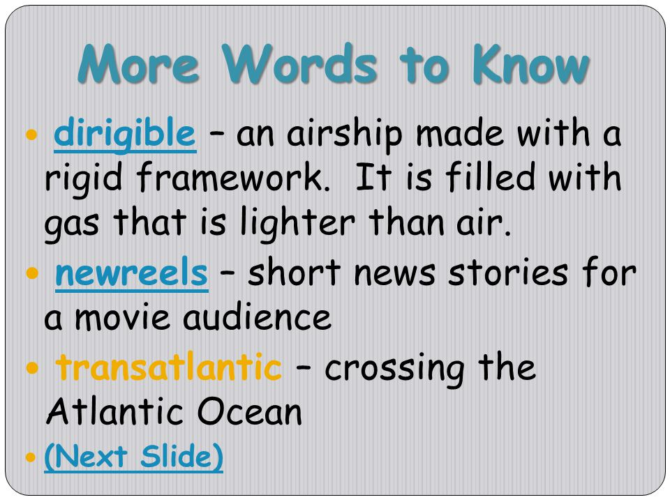 More Words to Know newreels – short news stories for a movie audience