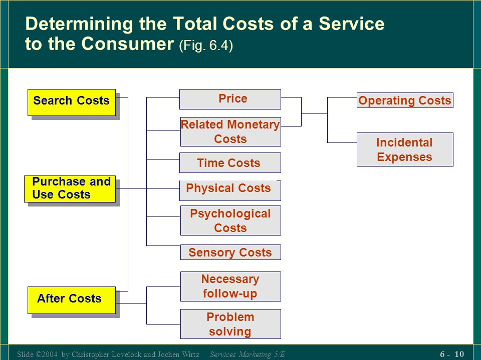 Determining the Total Costs of a Service to the Consumer (Fig. 6.4)