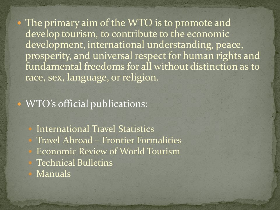 WTO's official publications: