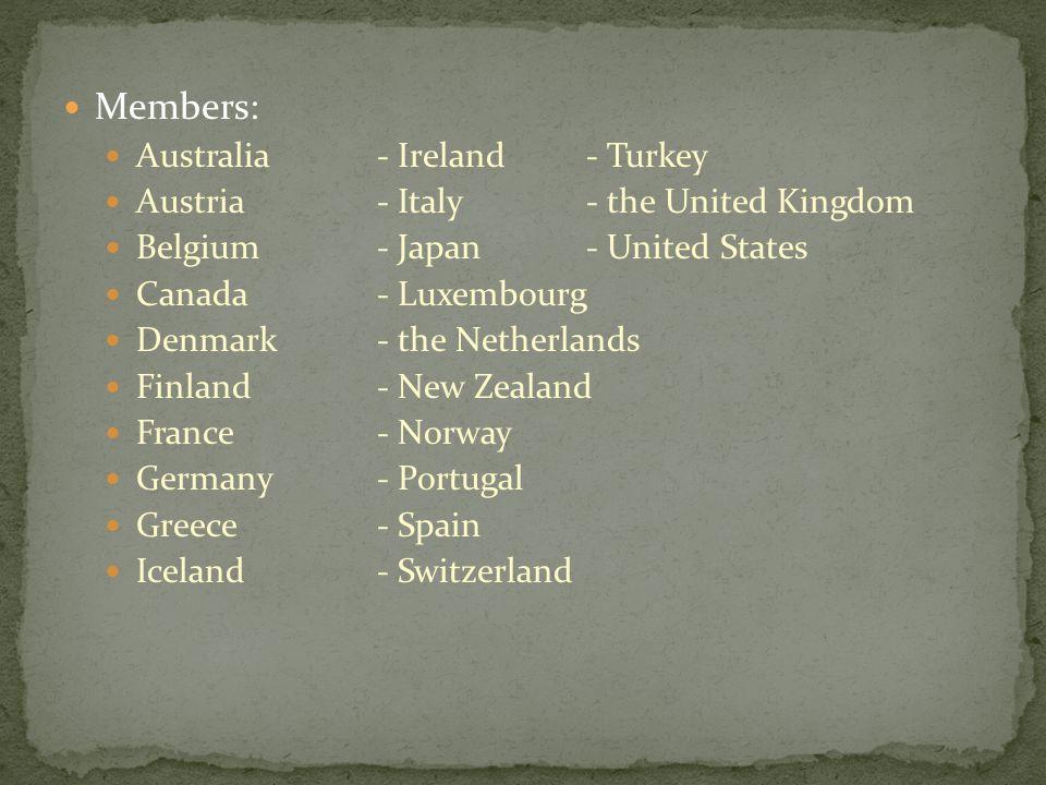 Members: Australia - Ireland - Turkey