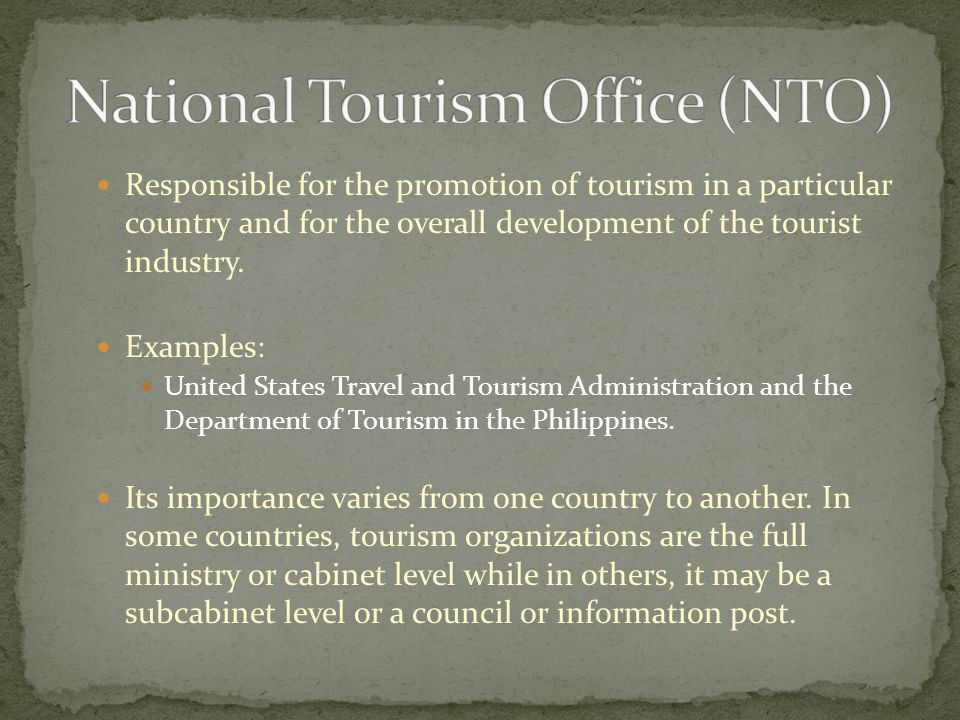 National Tourism Office (NTO)