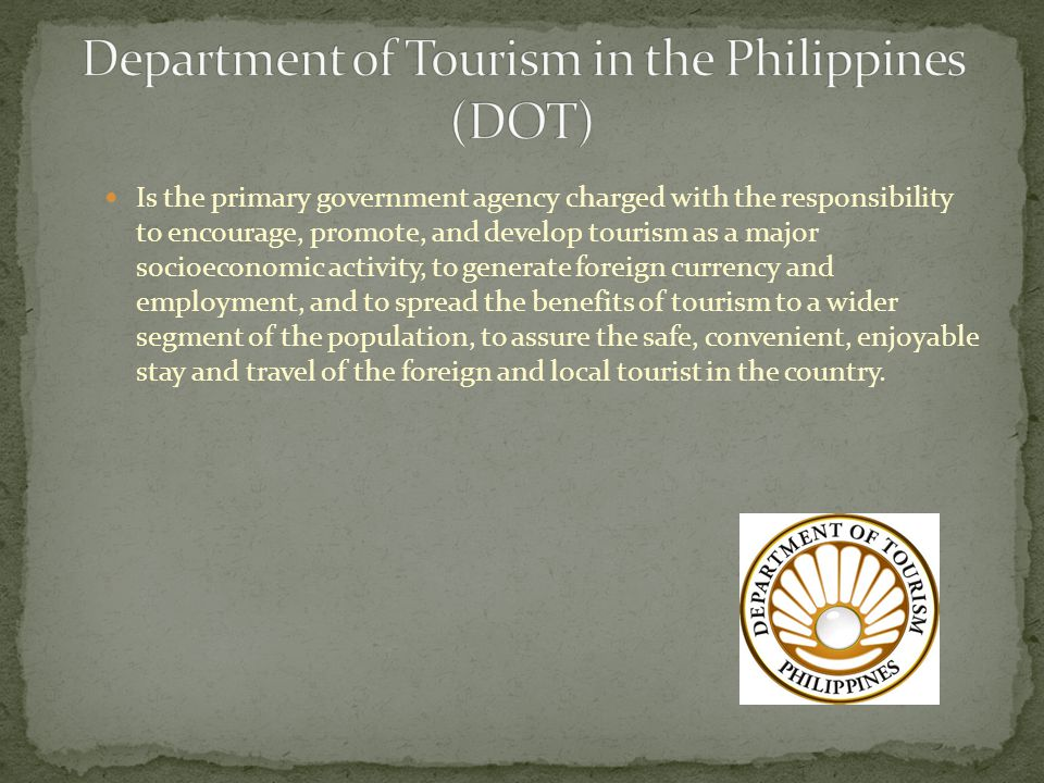 Department of Tourism in the Philippines (DOT)