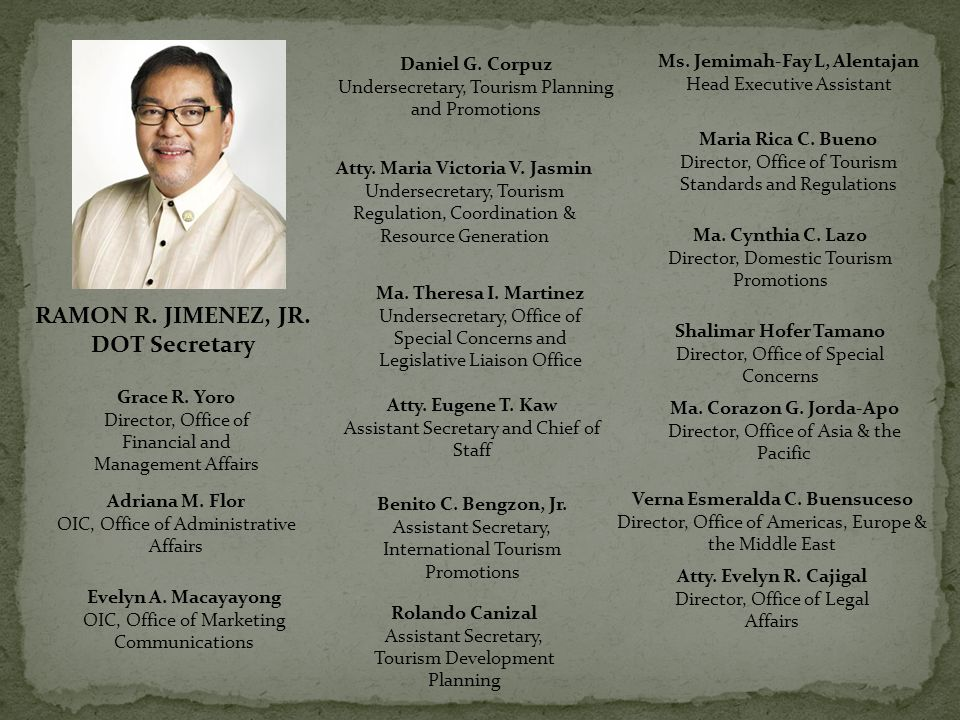 RAMON R. JIMENEZ, JR. DOT Secretary