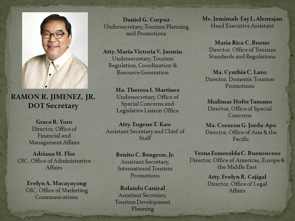 RAMON R. JIMENEZ, JR. DOT Secretary