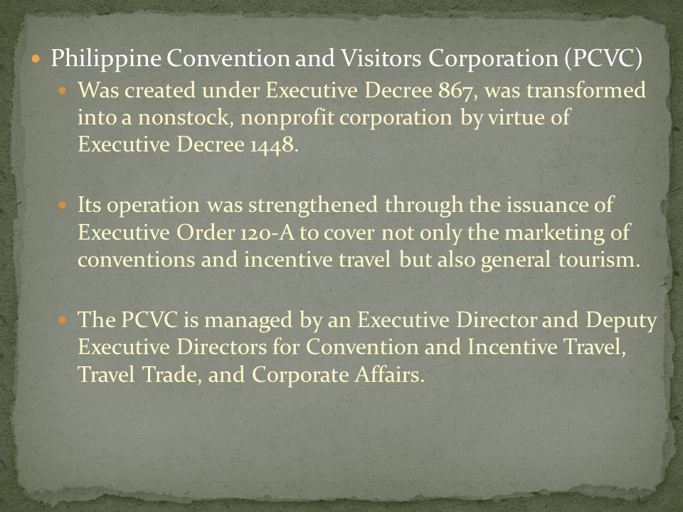 Philippine Convention and Visitors Corporation (PCVC)