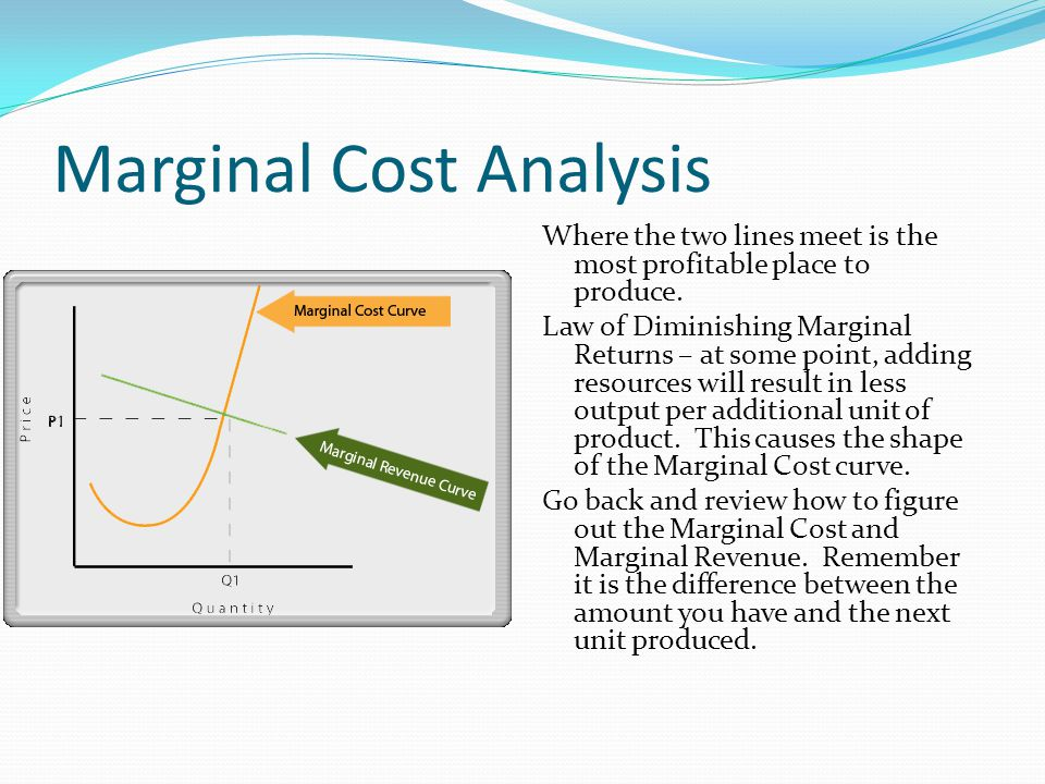 Marginal Cost Analysis