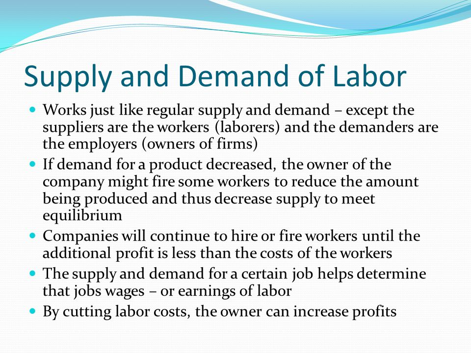 Supply and Demand of Labor