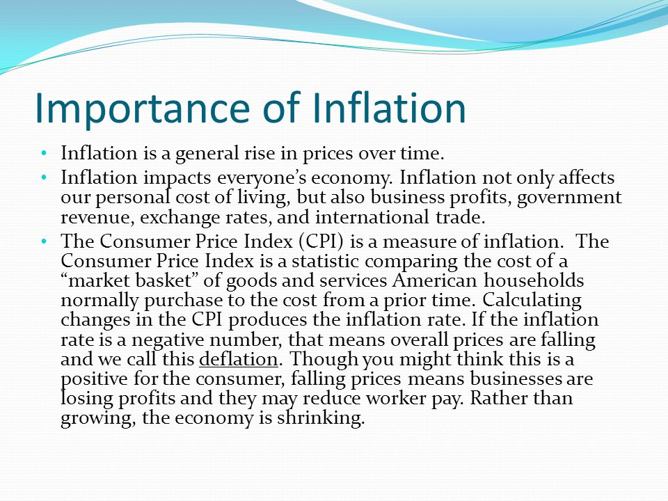Importance of Inflation