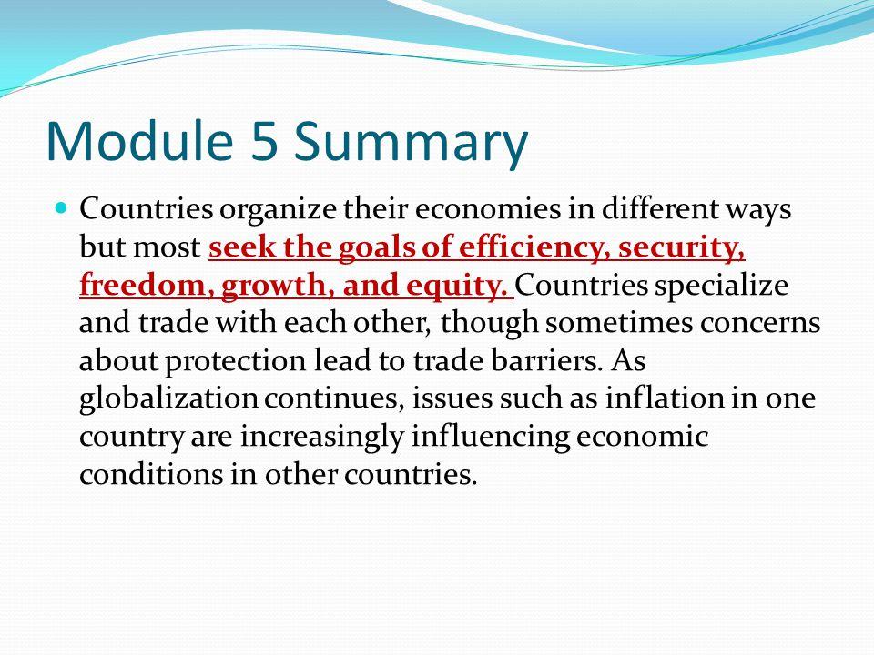Module 5 Summary