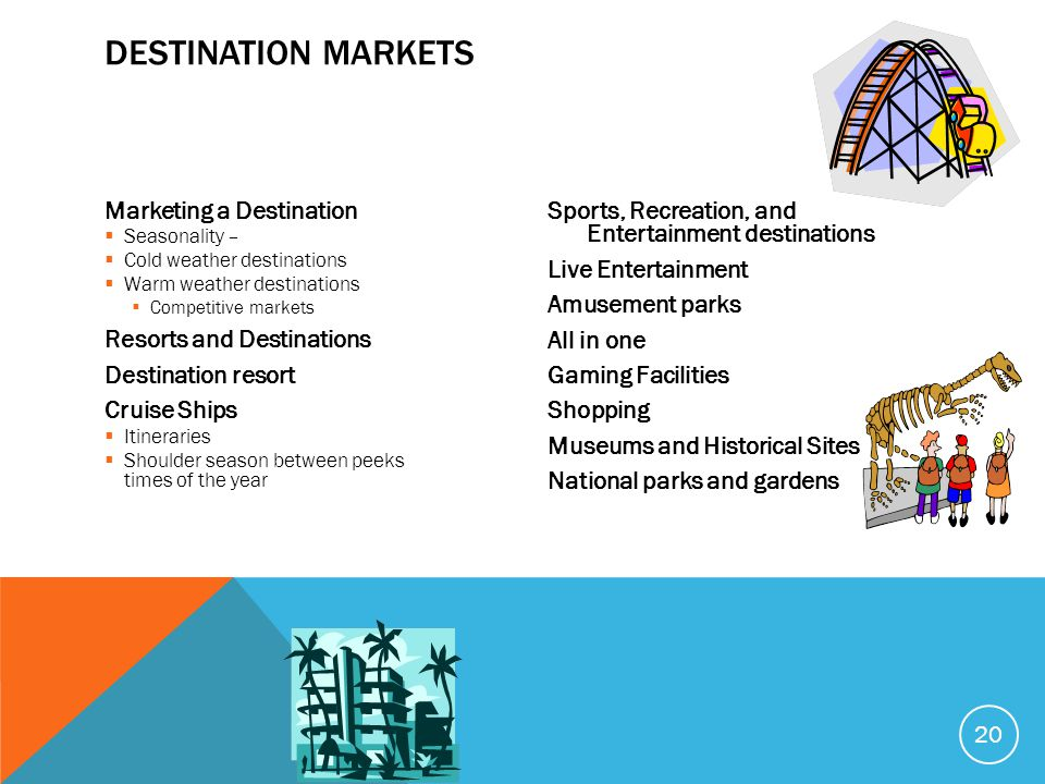 Destination Markets Marketing a Destination Resorts and Destinations