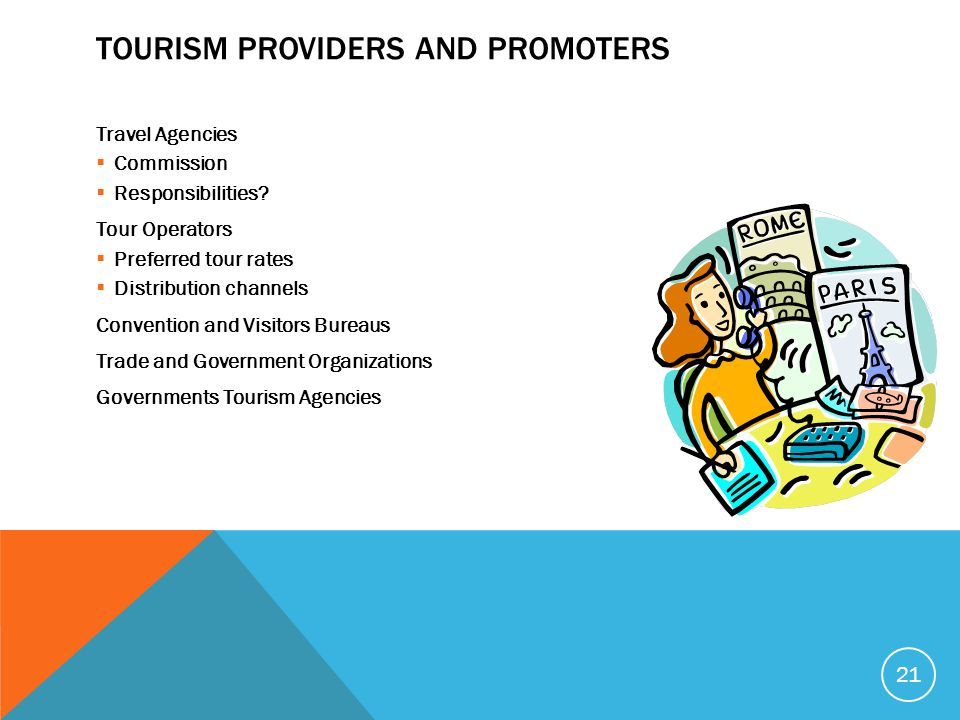 Tourism Providers and Promoters