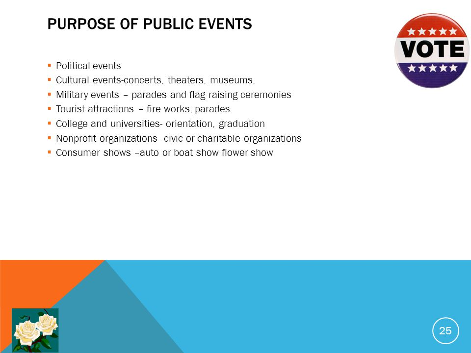 Purpose of public events
