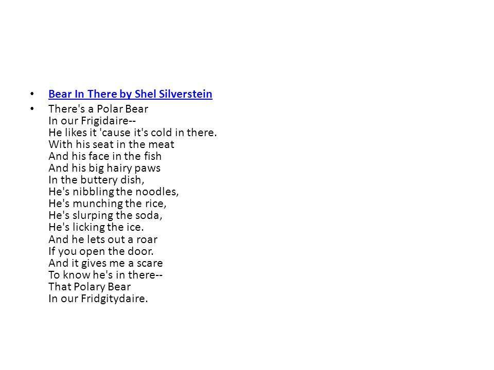 Bear In There by Shel Silverstein