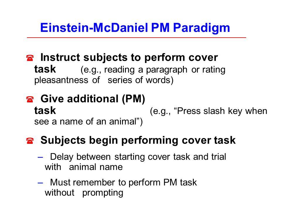 Einstein-McDaniel PM Paradigm