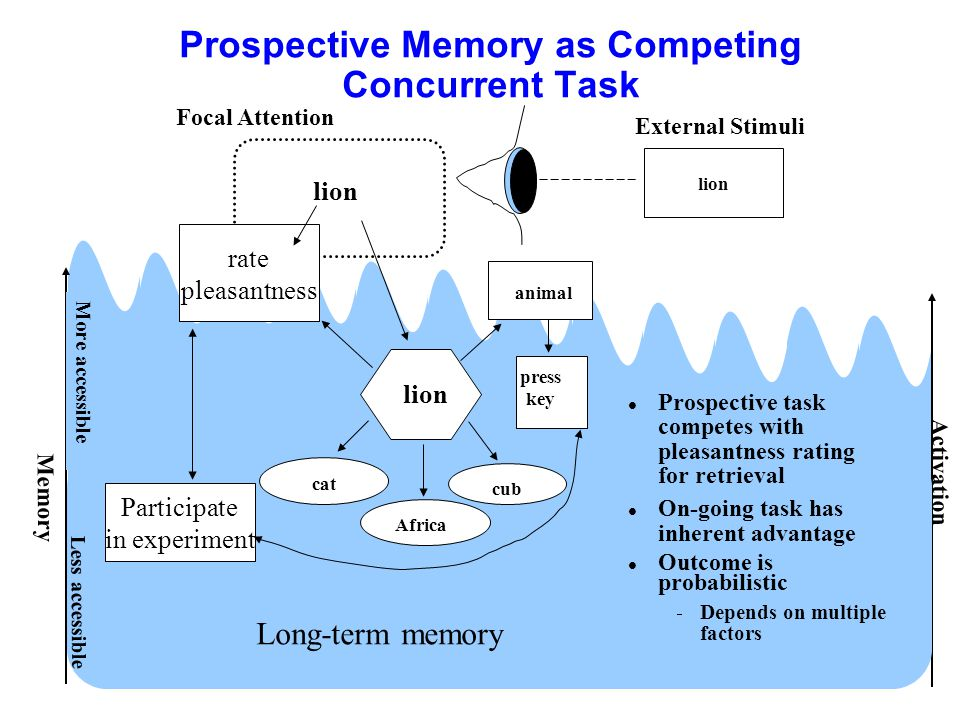 Prospective Memory as Competing Concurrent Task