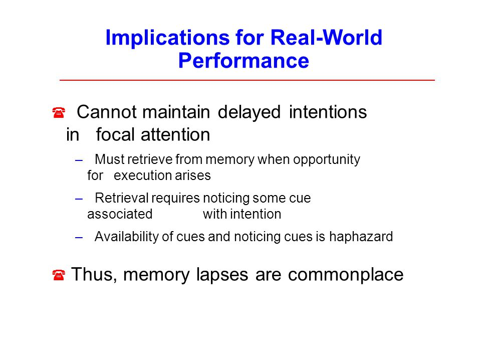 Implications for Real-World Performance