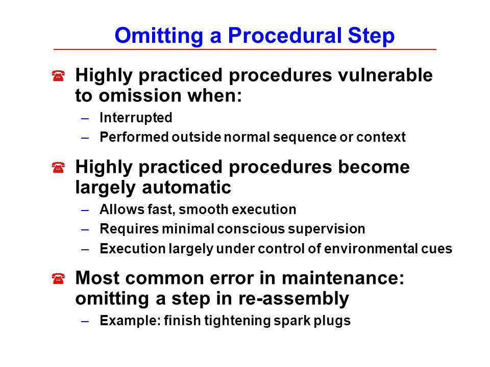 Omitting a Procedural Step
