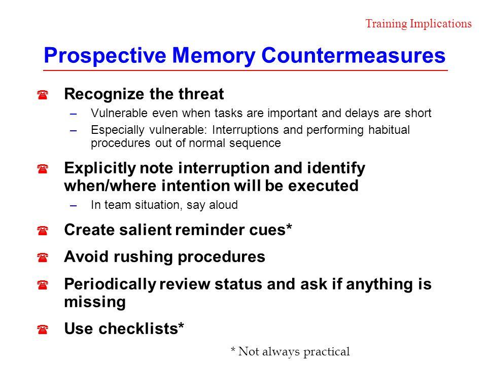 Prospective Memory Countermeasures
