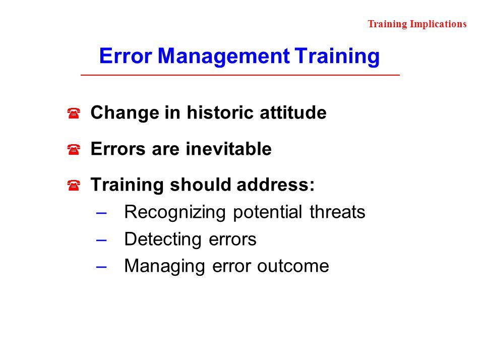 Error Management Training