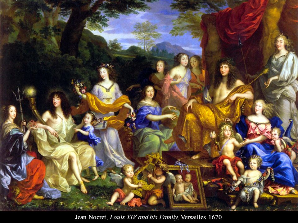 Jean Nocret, Louis XIV and his Family, Versailles 1670