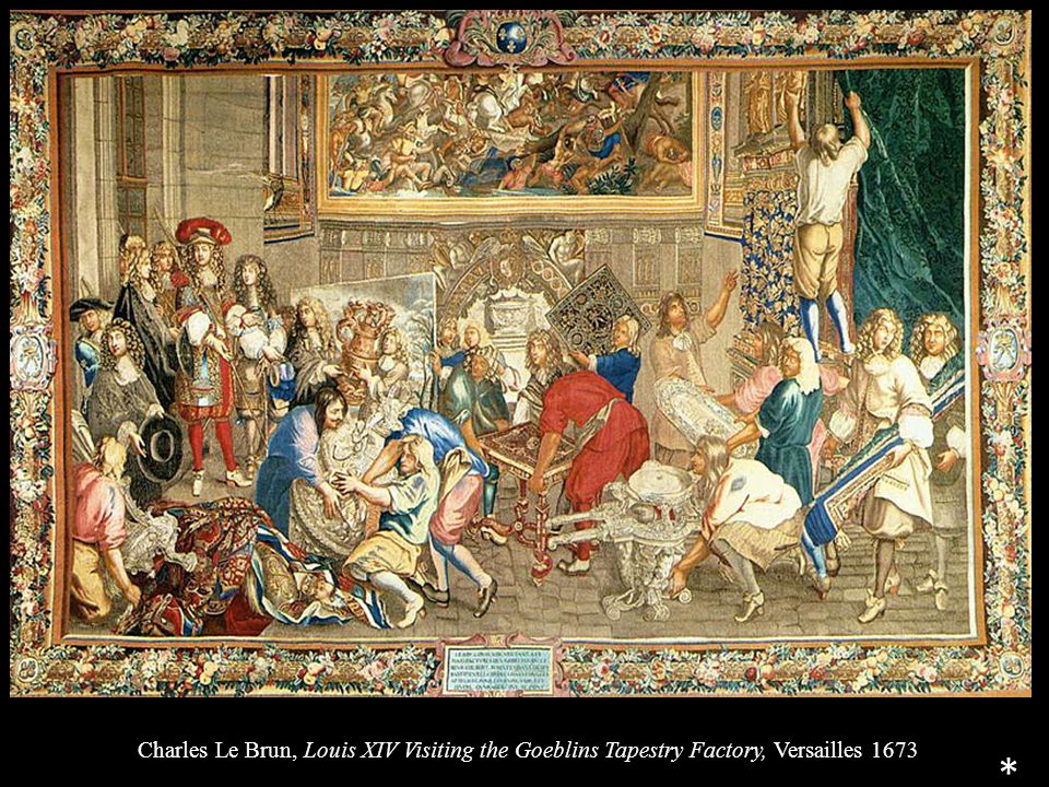 Charles Le Brun, Louis XIV Visiting the Goeblins Tapestry Factory, Versailles 1673