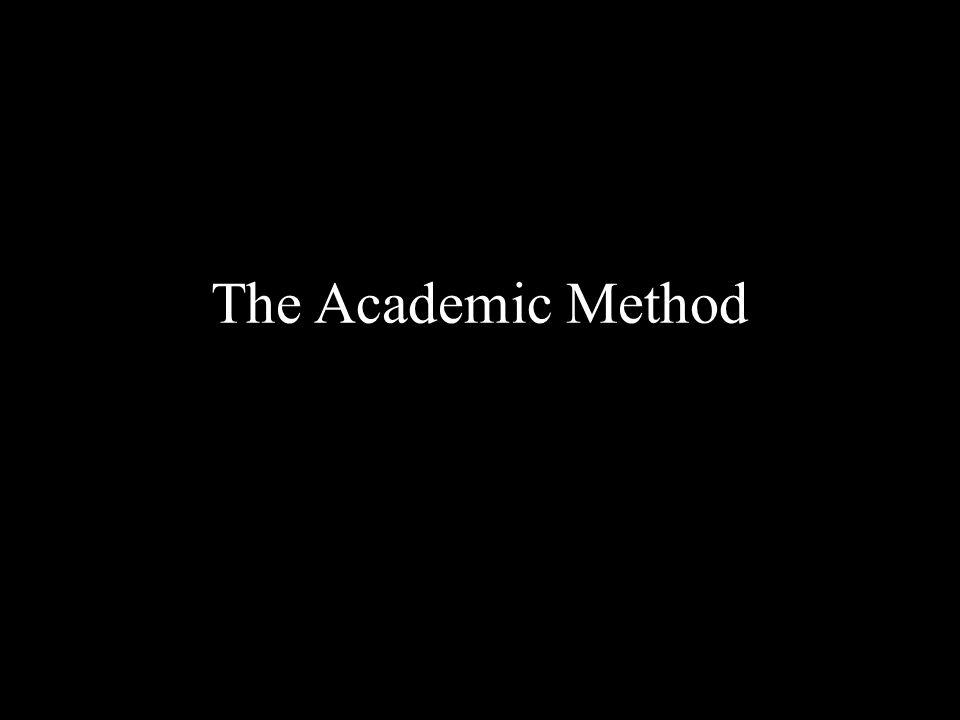 The Academic Method