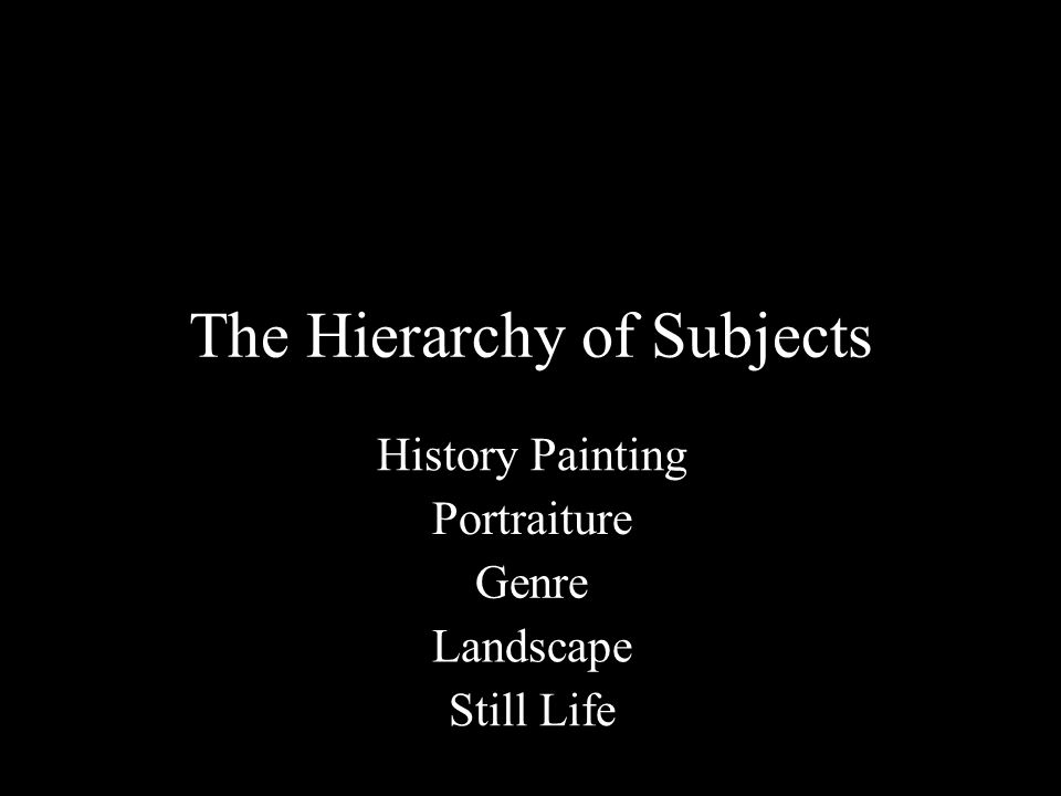 The Hierarchy of Subjects