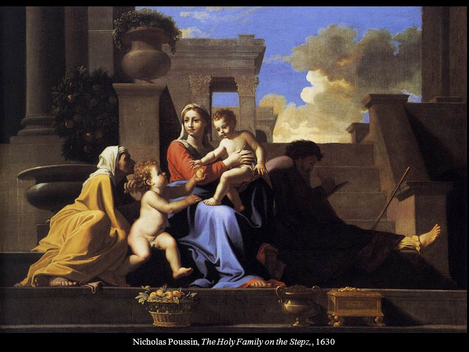 Nicholas Poussin, The Holy Family on the Stepz,, 1630