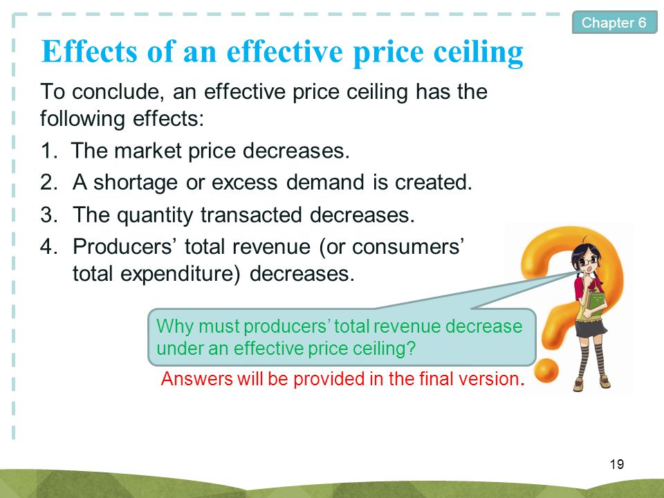 Effects of an effective price ceiling