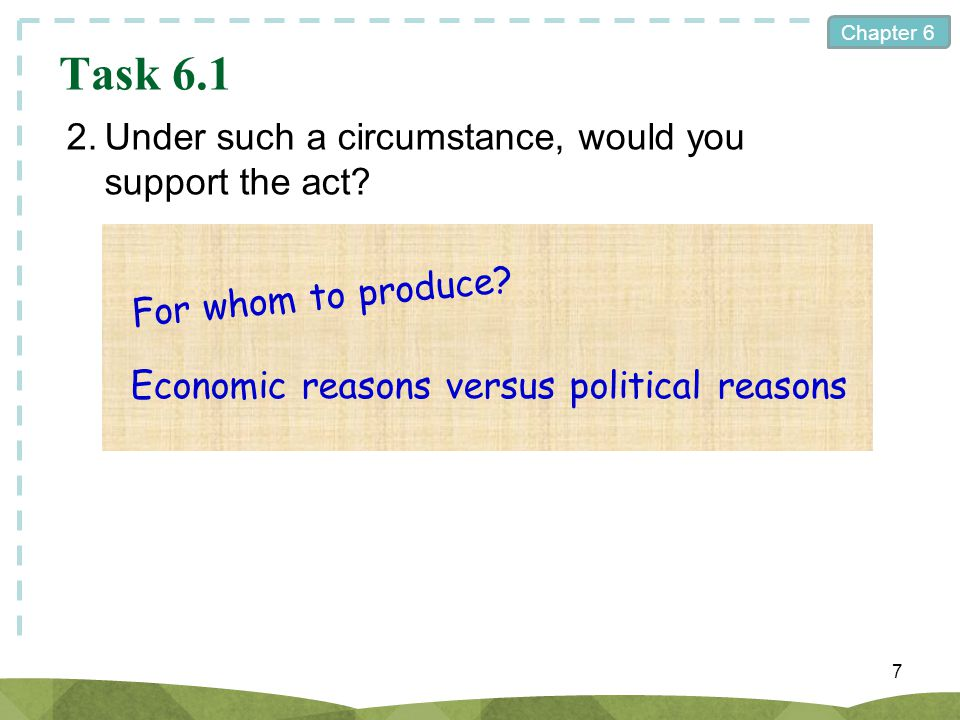 Task 6.1 2. Under such a circumstance, would you support the act
