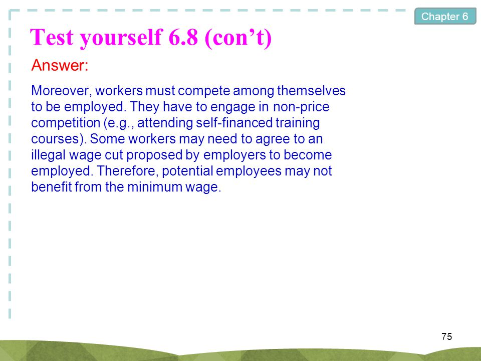 Test yourself 6.8 (con't) Answer: