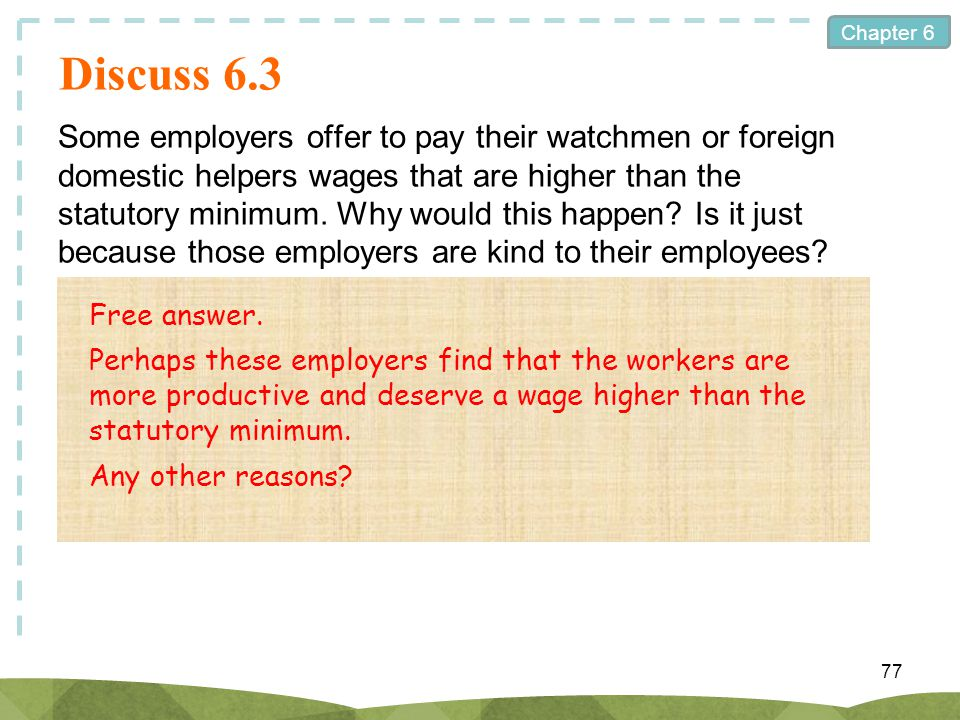 hong kong why statutory minimum wage is needed This summary of what is known about introducing a statutory minimum wage in developing countries highlights the importance of accounting for major differences between developed and developing countries when designing minimum wage institutions and suggests ways to favor the employment- and revenue-enhancing effects of a minimum wage.