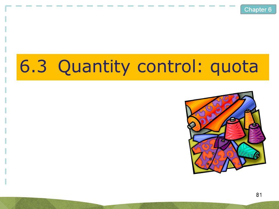 6.3 Quantity control: quota