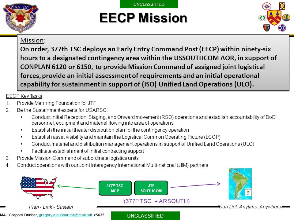 EECP Mission Mission: