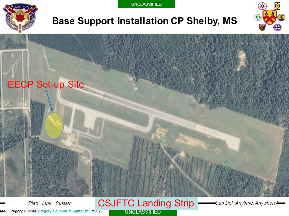 Base Support Installation CP Shelby, MS