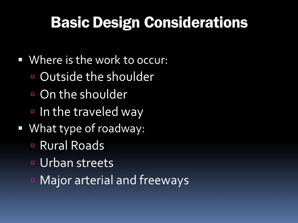 Basic Design Considerations