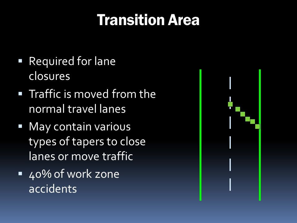 Transition Area Required for lane closures