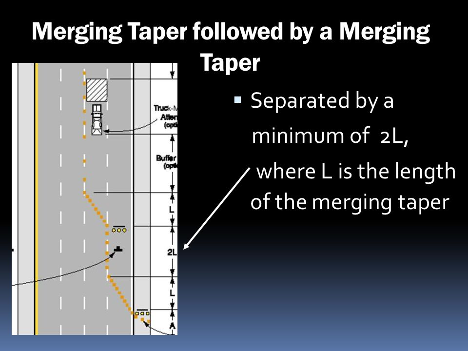 Merging Taper followed by a Merging Taper