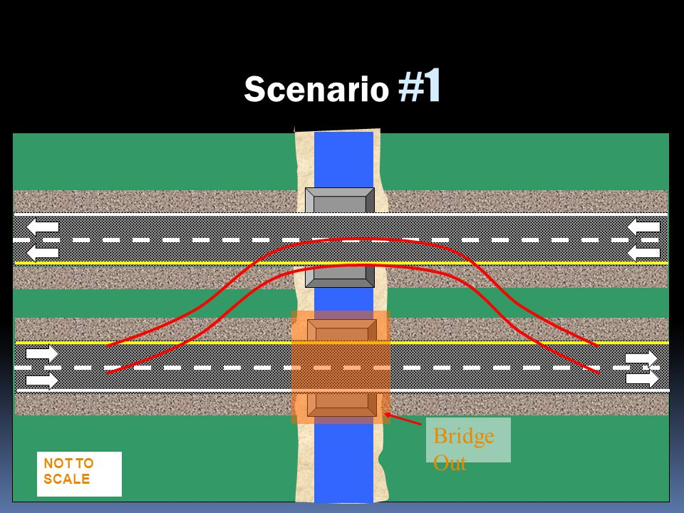 Scenario #1 Bridge Out Slide 2-162 NOT TO SCALE TA = 39