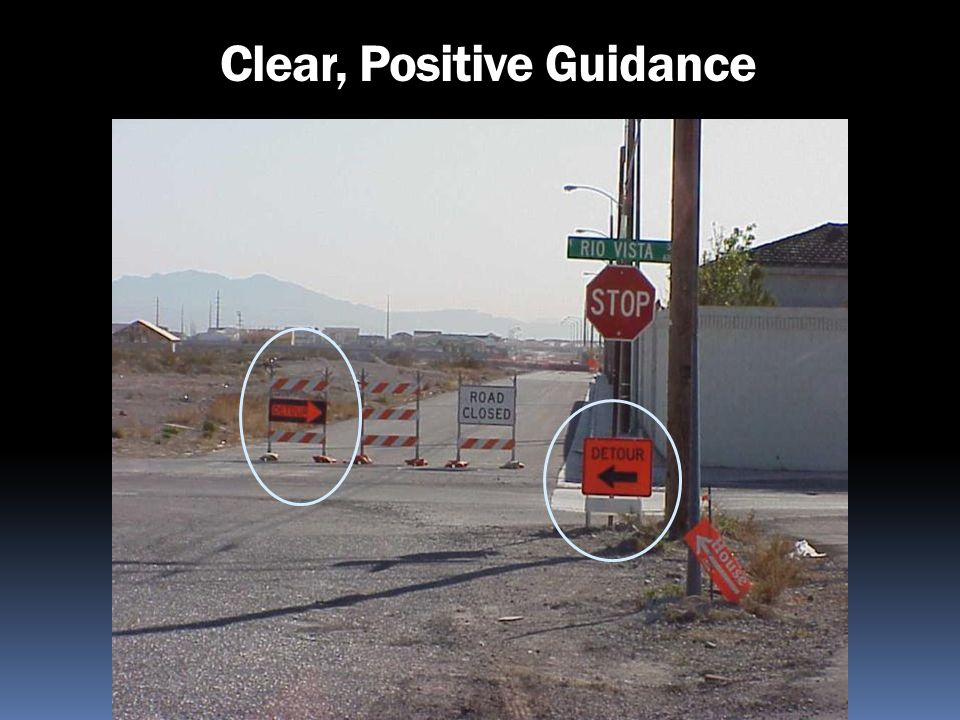 Clear, Positive Guidance