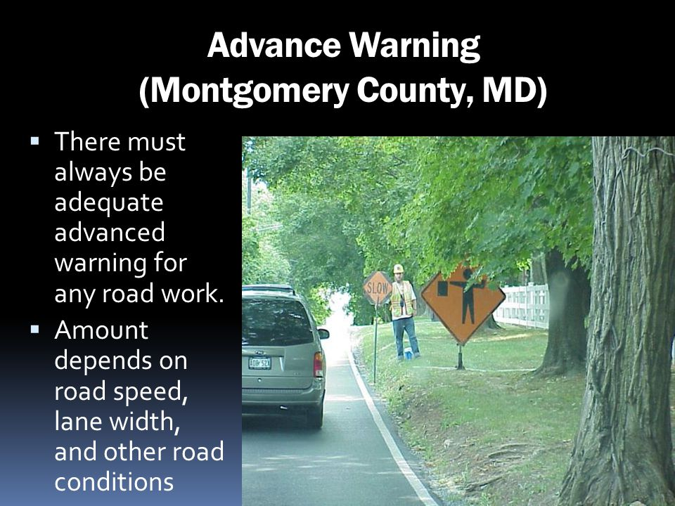 Advance Warning (Montgomery County, MD)