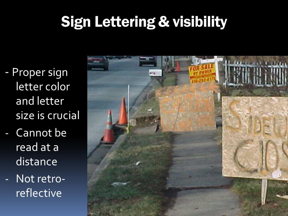 Sign Lettering & visibility