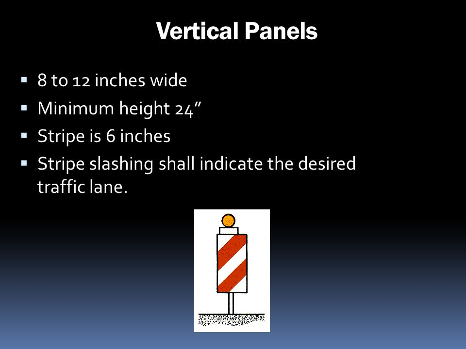 Vertical Panels 8 to 12 inches wide Minimum height 24