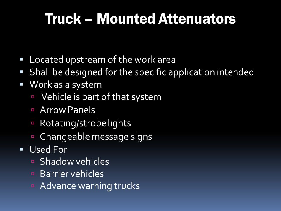 Truck – Mounted Attenuators