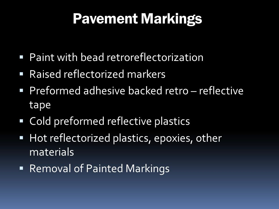 Pavement Markings Paint with bead retroreflectorization