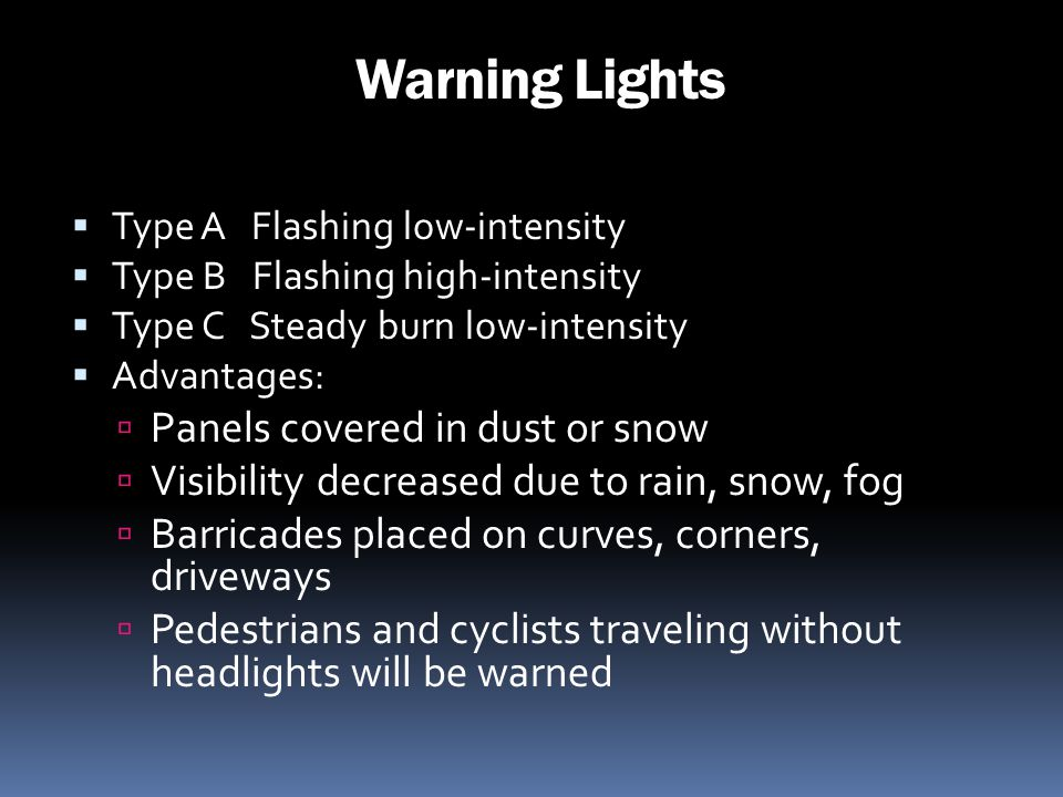 Warning Lights Panels covered in dust or snow